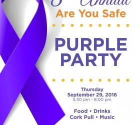 Are You Safe - 8th Annual Purple Party